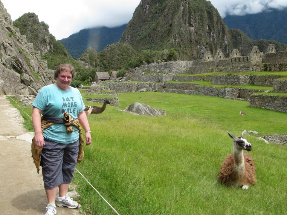 Mamma with a Llama.