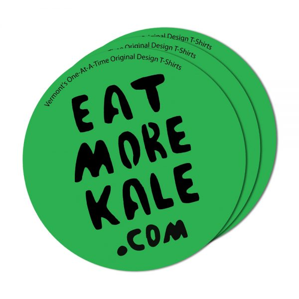 3-pack stickers of eat more kale design